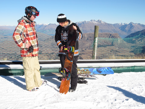 snowboard instructor course Coronet Peak, Queenstown, New Zealand