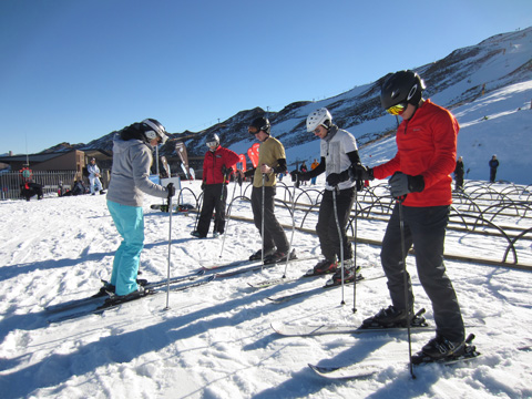 ski instructor course, Coronet Peak, New Zealand