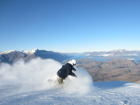 snowboarder, Coronet Peak, Queenstown, New Zealand