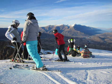ski and snowboard instructor course Coronet Peak, New Zealand