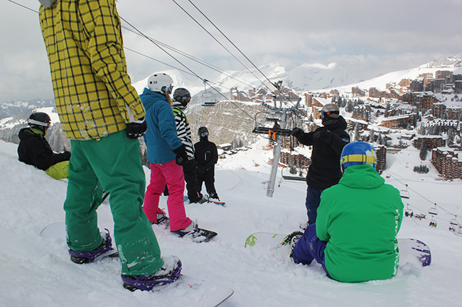 BASI level 2, snowboard, Avoriaz, Peak Leaders, instructor course, Si Cooke
