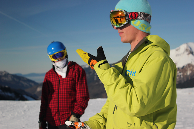 Mint Snowboard School, Morzine, Peak Leaders, gap year, improve snowboarding
