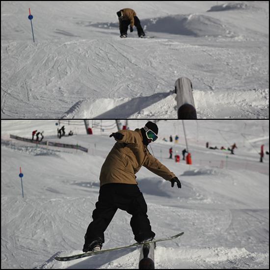 visualisation, snowboard, fs boardslide, snowboarder