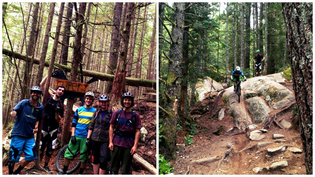 Taking a break from mountain bike coaching and riding the best of Squamish trails