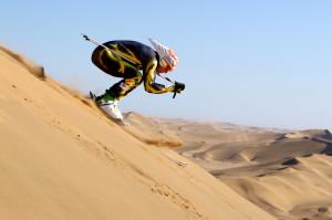 skiing, no snow, desert, sand, bad t