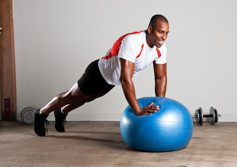 stability ball, ski fit, snowboard fit, core strength,