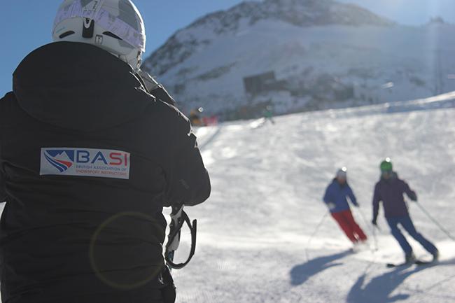 BASI trainer, ski instructor training, Saas Fee, Switzerland, Peak Leaders, Alex Leif