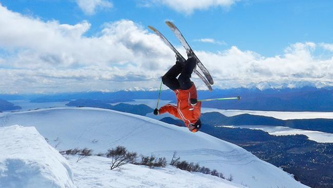 backflip, Cerro Catedral, Bariloche, Argentina, freestyle skiing