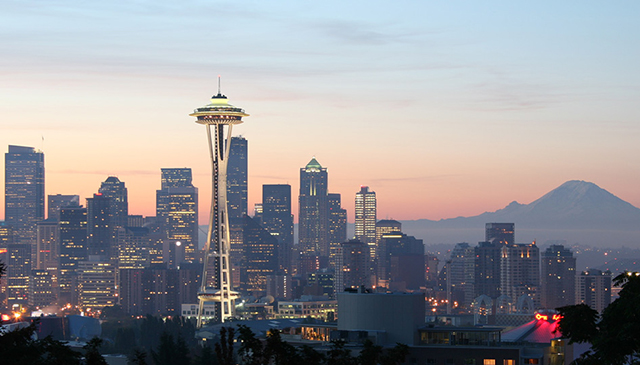 Seattle, Seattle cityscape, the best cities for skiers and snowboarders, Peak Leaders