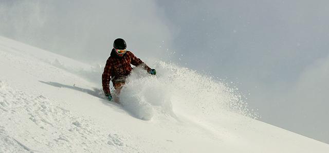 Cerro Catedral, Ski South America, Bariloche, powder, skier, powder slash, Peak Leaders Argentina