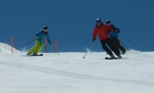 Not at Interski 2015 - yet! Peak Leaders crew showing how it is done...