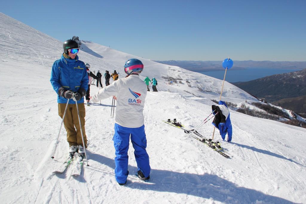Peak Leaders Bariloche Argentina Basi Level 2 Gap Course_Lesley training 2