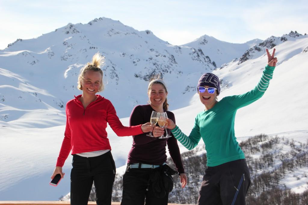 Peak Leaders Bariloche Argentina Basi Level 2 Gap Course_Baguales cat skiing champagne