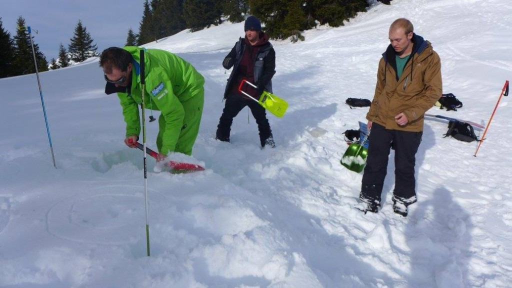 Avalanche safety exercise