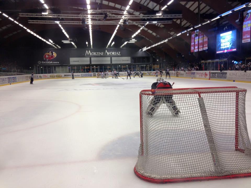 A hockey game in Morzine